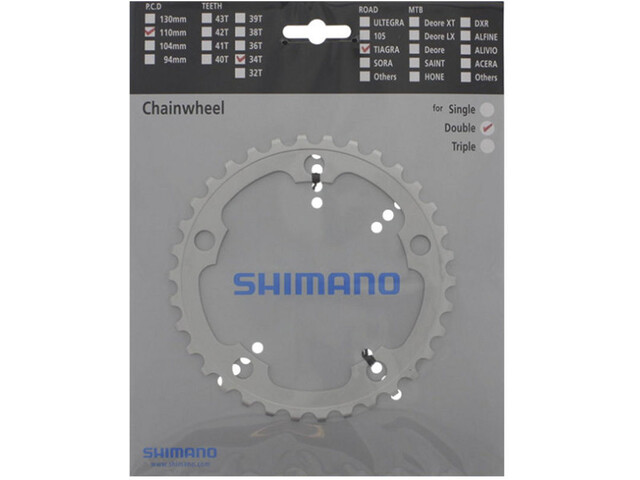 Shimano Tiagra FC-4550 Plato 9 velocidades, silver